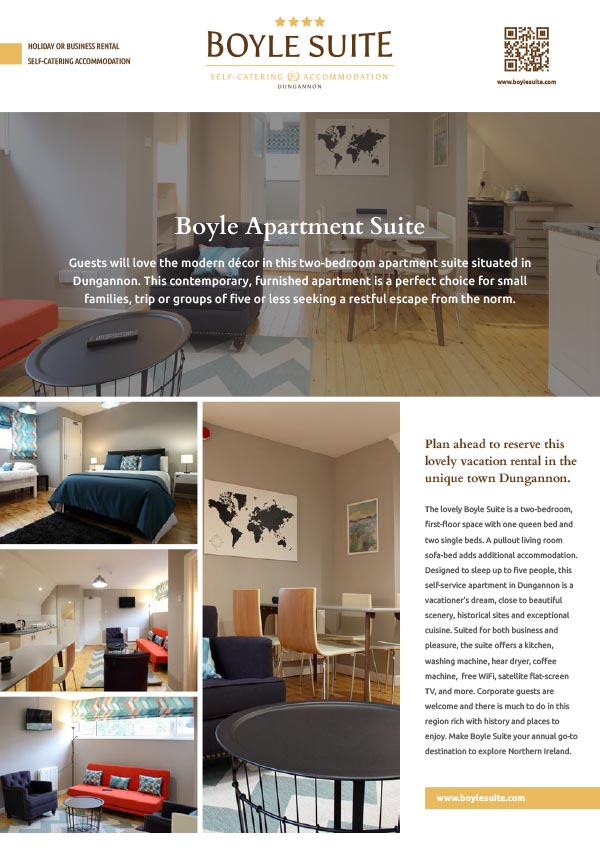 boyle suite for rent as self catering property