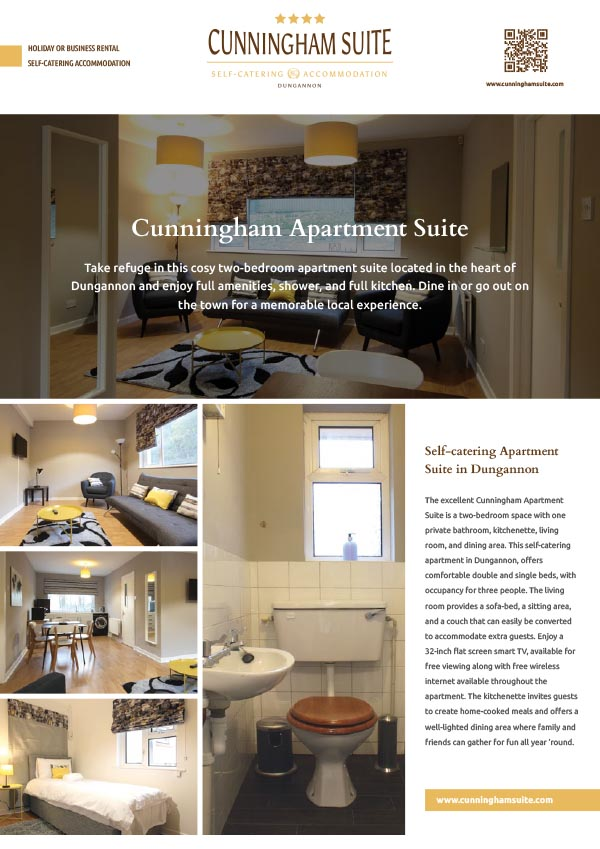 The Cunningham Suite for Rent in NI
