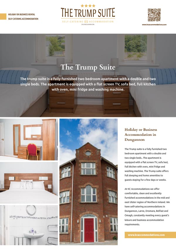 The trump suite for rent in Dungannon